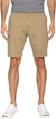 Flat Front Short Khaki (Dockers Men's Classic Fit Perfect Short D3 Stretch, New British Khaki (Stretch), 34W)
