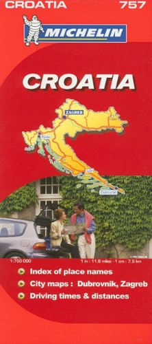 Michelin Map Croatia 757 (Michelin Maps)