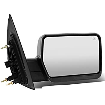 For Ford F150 Black Powered + Heated Glass + Manual Folding Side Towing Mirror (Right/Passenger)