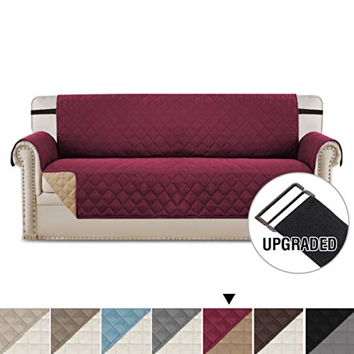 - H.VERSAILTEX Sofa Covers Sofa Slipcover Reversible Couch Cover for Dogs, Faux Cotton Furniture Sofa Protector with 2