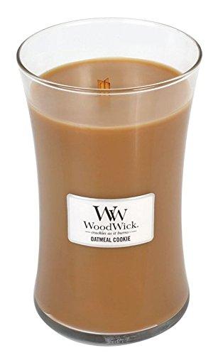 OATMEAL COOKIE - WoodWick 22oz Large Jar Candle Burns 180 Hours