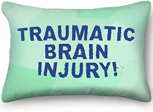 Text Sign Showing Traumatic Brain Injury Signs Symbols Accident Skin Cool Super Soft and Luxury Pillow Cases Covers Sofa Bed Throw Pillow Cover with Envelope Closure 1624 Inch