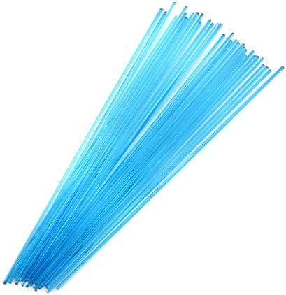 Turquoise Blue Transparent Stringer Sample S-1116-BE Bullseye Glass Stringer Sample Size
