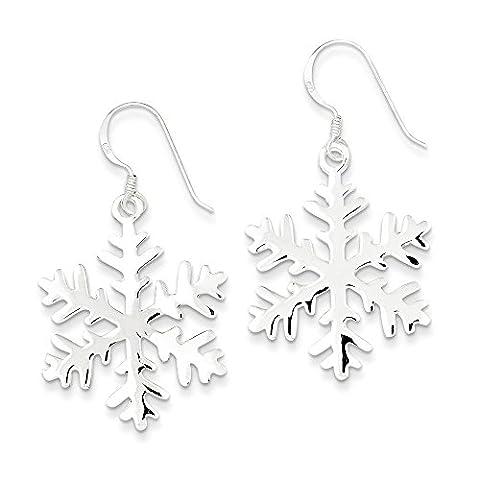 Sterling Silver Snowflake Dangle Earrings (Sterling Snowflake Earrings)