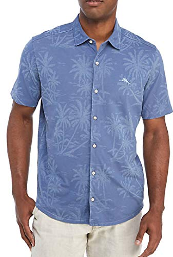 Tommy Bahama Mahanaha Knit Camp Shirt (Color: Dockside Blue, Size L)