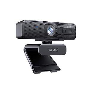 Webcam 1080P Full HD con Microfono, WEMISS Autofocus Webcam per PC con Correzione della Luce e Otturatore della Privacy VideoCamera per Video Chat Compatibile con Windows Mac e Android 7 spesavip