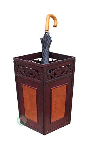 Wooden Umbrella Stand - Vintiquewise(TM Handcrafted Umbrella Holder