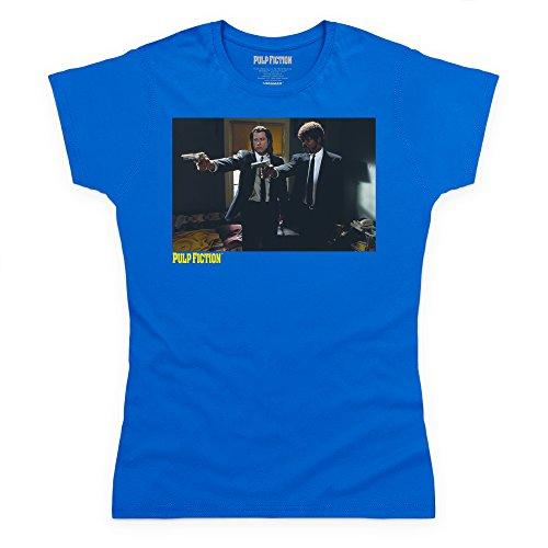 Official Pulp Fiction - Furious Anger Camiseta, Para mujer Azul real