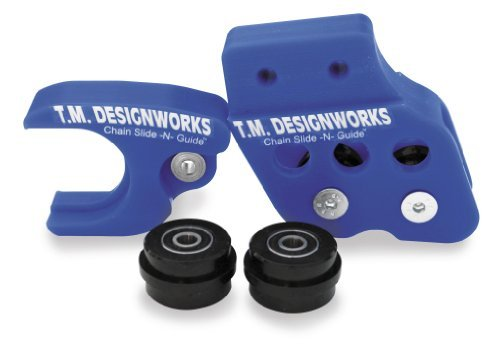 2007 Yamaha YFM700R Raptor GYTR Edition Chain Slide-N-Guide Kit for Aftermarket Arms - Blue, Manufacturer: T.M. Designworks, SLIDE-N-GUIDE KT RAPT700 BLU