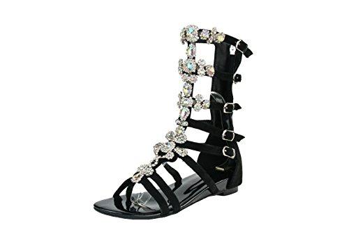 Wohnungen BFCM Damen Sommer Strass Schuhe Kolnoo Elegante Sandalen Mode xHgTqxAY