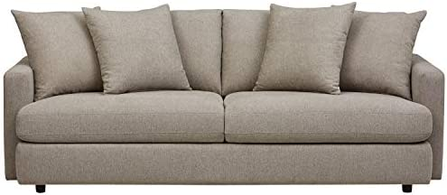 Amazon Brand Rivet Amelia Modern 94 Sofa, Fabric, Light Gray