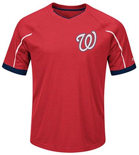 VF Washington Nationals Majestic Mens Cool Base Emergence Shirt Big & Tall Sizes (5XL)