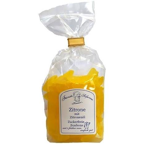 Zuckerfreie Zitronen Bonbons mit Zitronenöl, 120g: Amazon.de ...