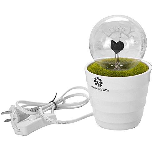 Bulb Potted Night Light, Light-Emitting Plants, Create Romantic LED Night Light, Decorative Light, Table Lamp, Bed Decoration Light Lamp (I LOVE YOU) Pink Oil Lamp Bb
