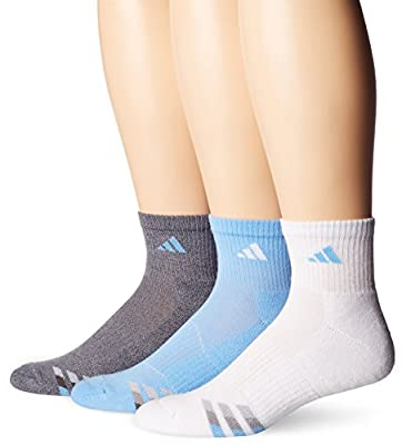adidas Men's Cushioned Quarter Compression Socks (3-Pack)