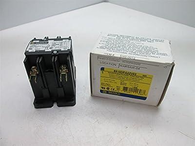 Square D 8910DPA32V02 Contactor, 120VAC Coil, 2-Poles, 30 Amps, 2 HP