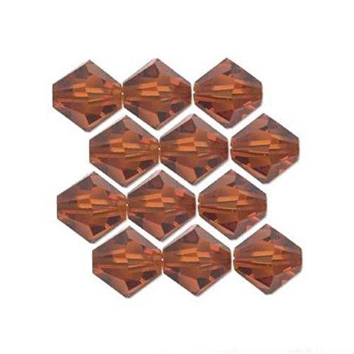 (12 India Red Bicone Swarovski Crystal Beads 5301 3mm )