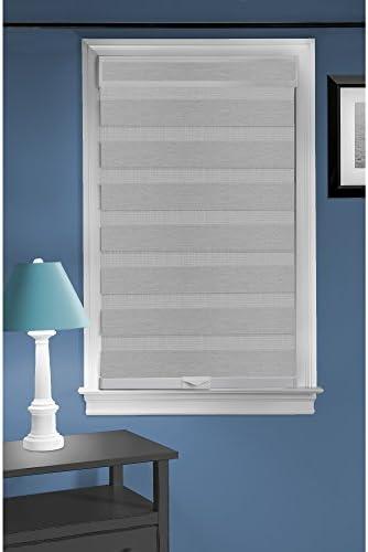 Achim Home Furnishings Cordless Celestial Sheer Double Layered Window Shade, 36 x 72 , Grey