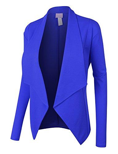 [RubyK Womens Plus Size Open Front Long Sleeve Tuxedo Blazer Jacket] (Ladies Tuxedo)