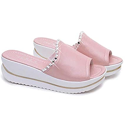 c7084fc7692f6 Amazon.com: DingXiong Women Sandals 2018 Girl PU Leather Platform ...