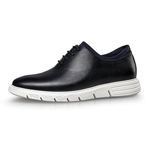 Zro Mens Lacets Casual Mode Sneakers Respirant Chaussures De Sport Sportif Noir