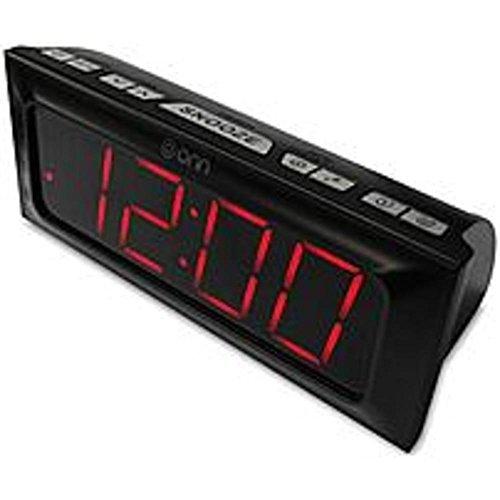 ONN DIGITAL AM/FM ALARM CLOCK RADIO LARGE 1.8 INCH RED LED DISPLAY by ONN