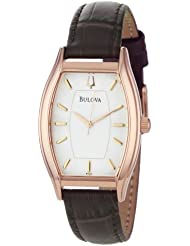 Bulova Womens 97L114 Classic Rose Tonneau Watch