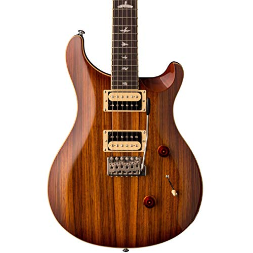 PRS Paul Reed Smith SE Custom 24 Zebrawood Guitar with Gig Bag, Vintage Sunburst