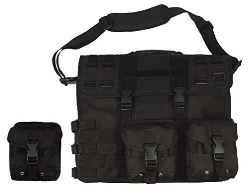 p Briefcase - Removable Pouches - Black Tan Foliage Acu ()