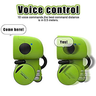 GILOBABY Kids Robot Toy, Talking Interactive Voice Controlled Touch Sensor Smart Robotics with Singing, Dancing, Repeating, Speech Recognition and Voice Recording, Gift for Kids Age 3+ (Green): Toys & Games