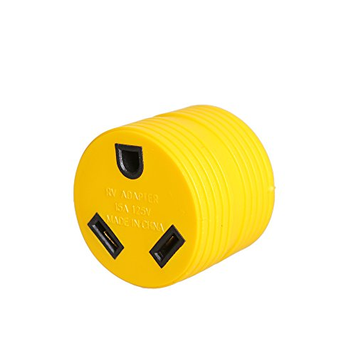 Discount EPICORD Heavy Duty RV Auto PowerGrip Adapter- Contoured Shape For Easy Grip and Removal (15M, 30 Amp, 125 V, 1875 W) (Orange) for sale