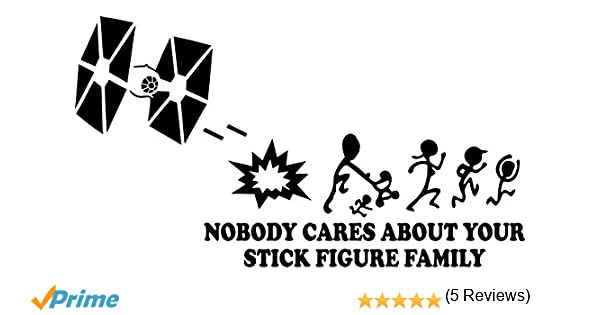 Amazoncom Nobody Cares About Your Stick Family Star Wars Tie - Vinyl decals for your caramazoncom your stick family was delicious trex vinyl decal