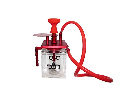 DUD Clear LED Shisha Hookah One Hose Big Smoke Acrylic for sale  Delivered anywhere in USA