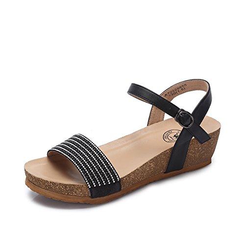 Cuña Primavera-verano Sandalias/Señora Rhinestones Tacones De Moda A
