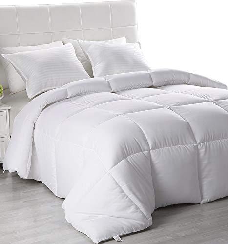 Utopia Bedding Lightweight Comforter, Ultra Soft Down Alternative - All Season Comforter - Plush Siliconized Fiberfill Duvet Insert - Box Stitched (Twin, White) ()