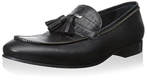 alessandro-dellacqua-mens-tassel-loafer-black-44-m-eu-11-m-us