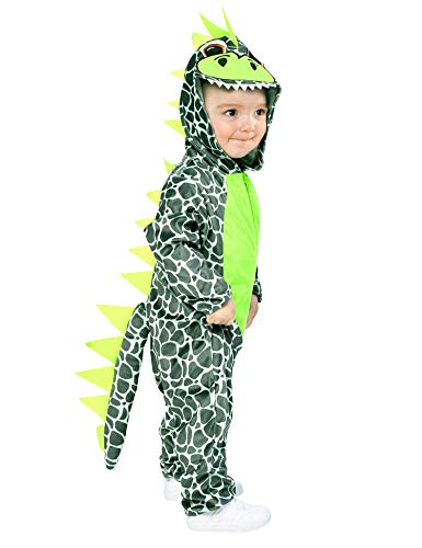 Baby Dinosaur Costume, Kids Hooded Dragon Romper Jumpsuit, Animal One-Size Pajamas -