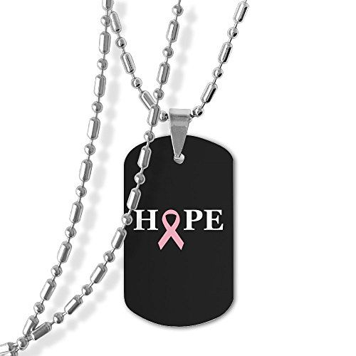 Hope To Heal Breast Cancer Dog Tag Necklace Military Pendant Necklace