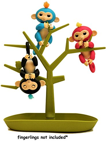 MONKEY TREE - Storage Tree - Hanging Play Set Climbing Gym - Display Stand - Accessory Accessories Green