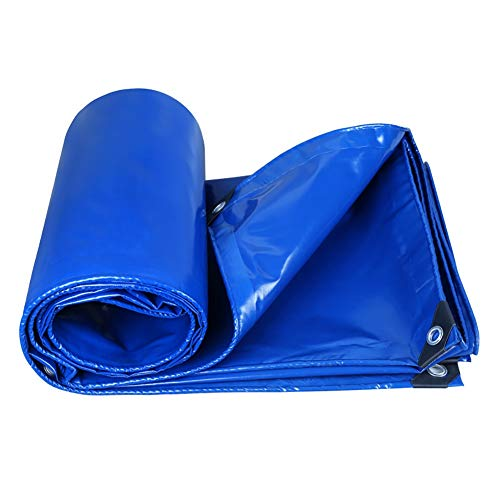 Tarpaulin Thicken Waterproof Tent Sunscreen Warehouse Vehicle Cover 350G/M² (Color : Blue, Size : 2M×2.5M) by Tarp