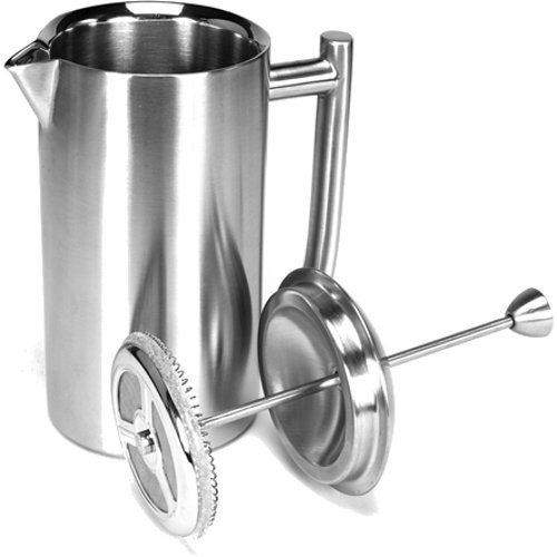 double wall steel french press - 2