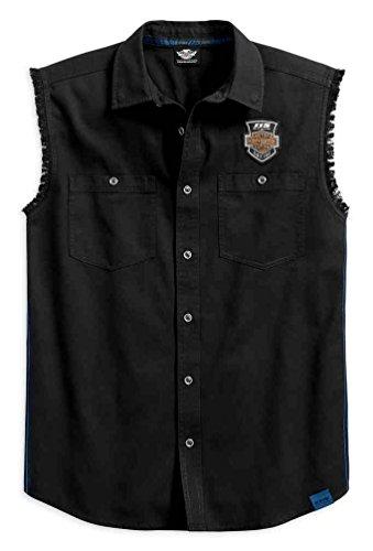 Harley-Davidson Men's 115th Anniversary Blowout Shirt, Black 99004-18VM (S)