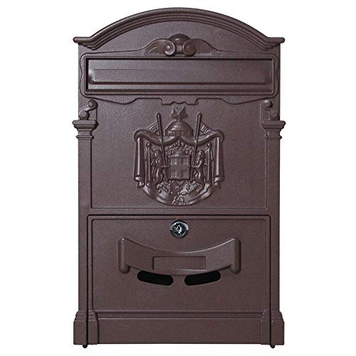 Top_Quality555 Vintage Retro Cast Wall Mount Security Bronze Mailbox Letter Safe Storage Post Lock Box