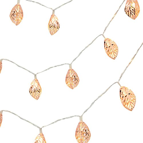 2M 10 Tress Leaves LED String Light, Dirance Indoor Outdoor Fairy Iron Night Light Lamp Festival Party Wedding Girl Bedroom Home Decor (Gold) by Dirance (Image #1)