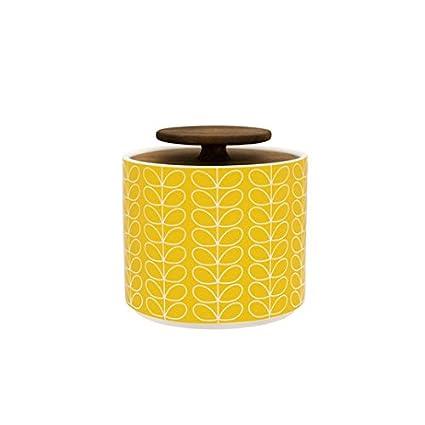 Orla Kiely Linear Stem Storage Jar 1 Litre Yellow Amazoncouk