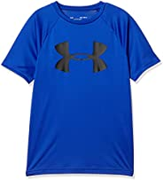 Under Armour Boys' Tech Big Logo Short Sleeve Gym T-S
