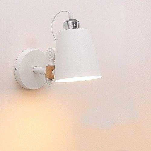 Firsthgus E27 Lámpara de parojo retráctil Parojo de pasillo de madera maciza con interruptor Sacudir la cabeza Lámpara colgante Restaurante Dormitorio junto a la cama