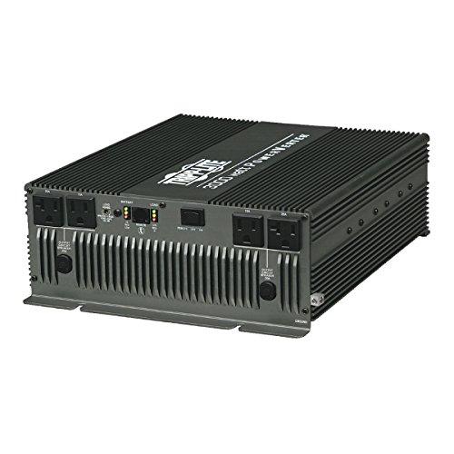 Tripp Lite Power Compact Inverter, 3000W, 12VDC, 120V, (2) 5-15R; (2) 5-20R, 4-Outlets  for RVs,Trucks, Fleet Vehicles & Emergency Vehicles (PV3000HF)