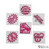 72 SUPERHERO Pink Ribbon TATTOOS - BREAST Cancer Awareness - Fundraiser GIVEAWAYS - Favors