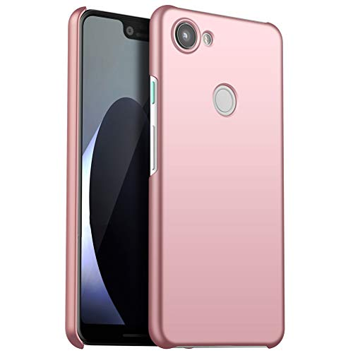 Google Pixel 3a Case,ASONRL Matte Hard PC Ultra Thin Shock Absorption Phone Cover with Non Slip Grip Surface Full Protection case (Rose) ()